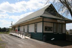 L'arrière de la gare