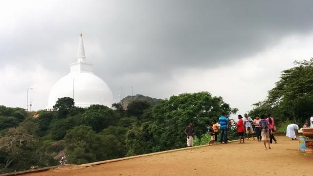 Vue de la grande pagode depuis le grand Bouddha