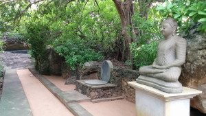 Espace pour faire la méditation en marchant ou assis